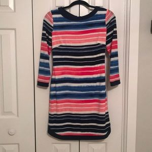 Vince Camuto Blue, Pink, Navy, White Striped Dress